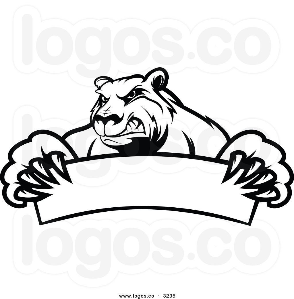 Growling Grizzly Bear Clipart