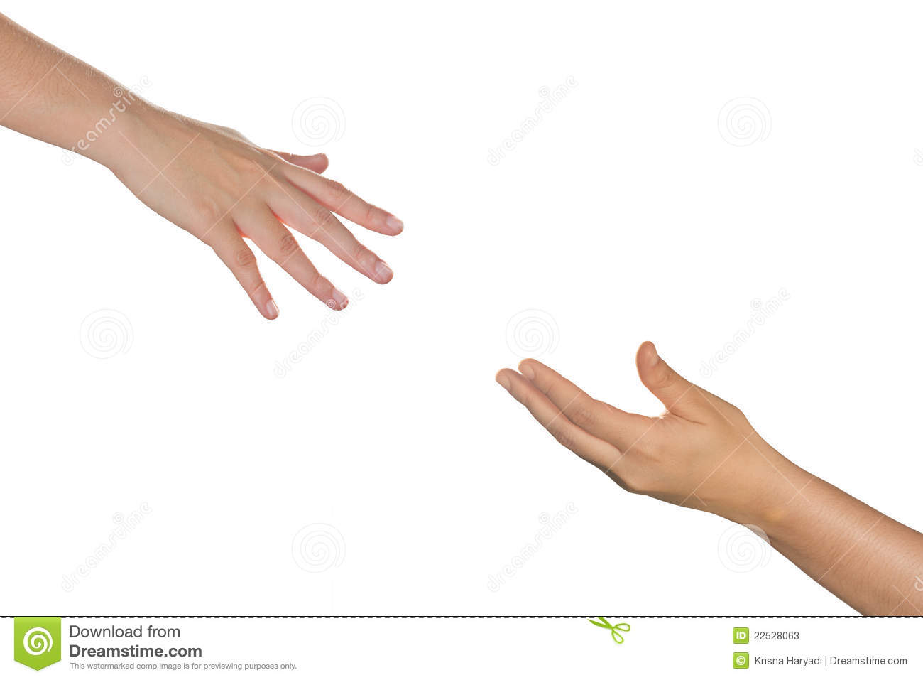 Hands Reaching Each Other  Stock Photos   Image  22528063