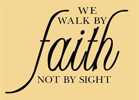 Inspirational Quotes   Wall Decals   Stickers We Walk By Faith