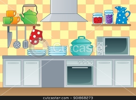 Image gallery kitchen room clip art for Kitchen room cartoon images