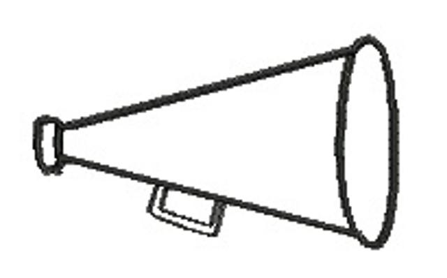 Cheer Megaphone Clipart - Clipart Kid