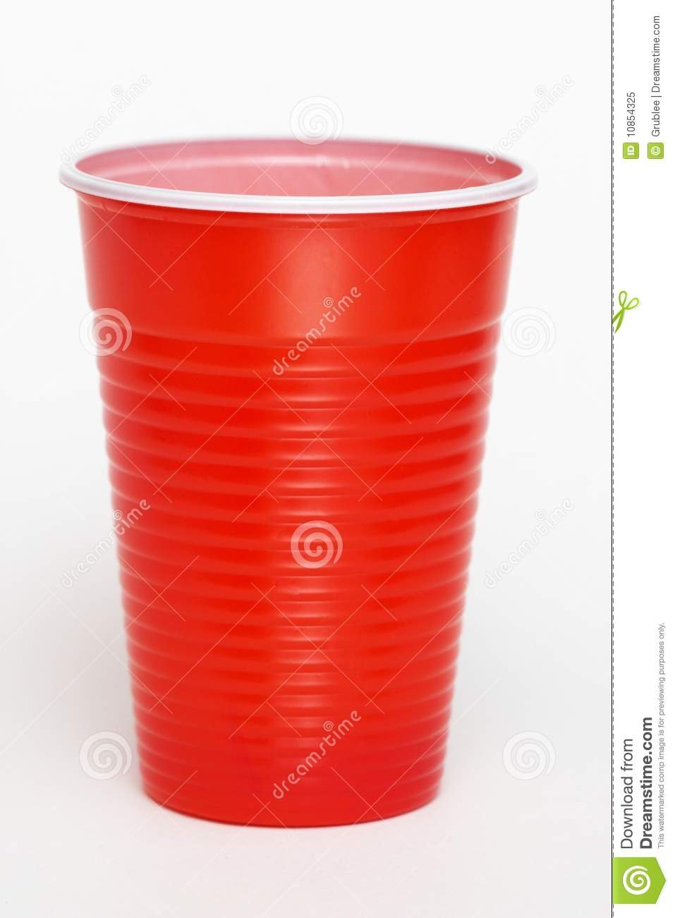 Plastic Cup Clipart Red Plastic Cup Isolated Over