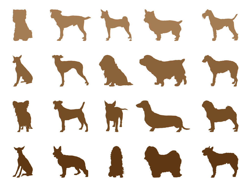 Pug Silhouette Vector   Clipart Best