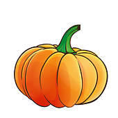 Pumpkin Isolated   Royalty Free Clip Art