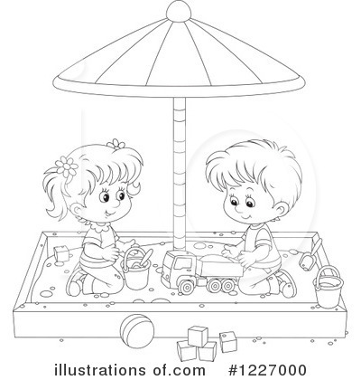 Sand Box Clipart  1227000 By Alex Bannykh   Royalty Free  Rf  Stock