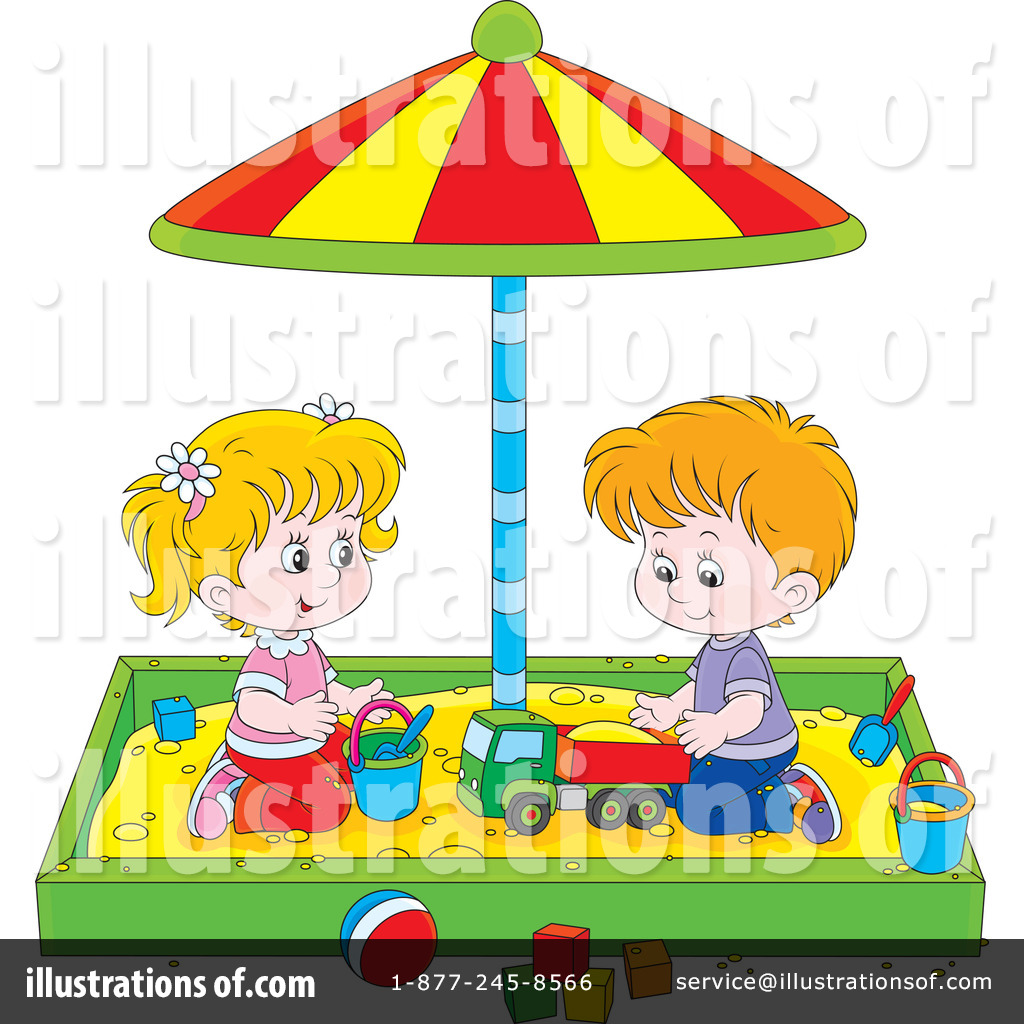 Sand Box Clipart  1227008 By Alex Bannykh   Royalty Free  Rf  Stock