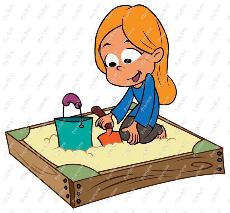 Setting Up Your Sandbox Clipart
