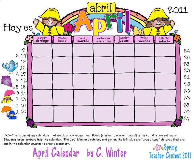 April Calendar Graphics : April calendar clipart suggest