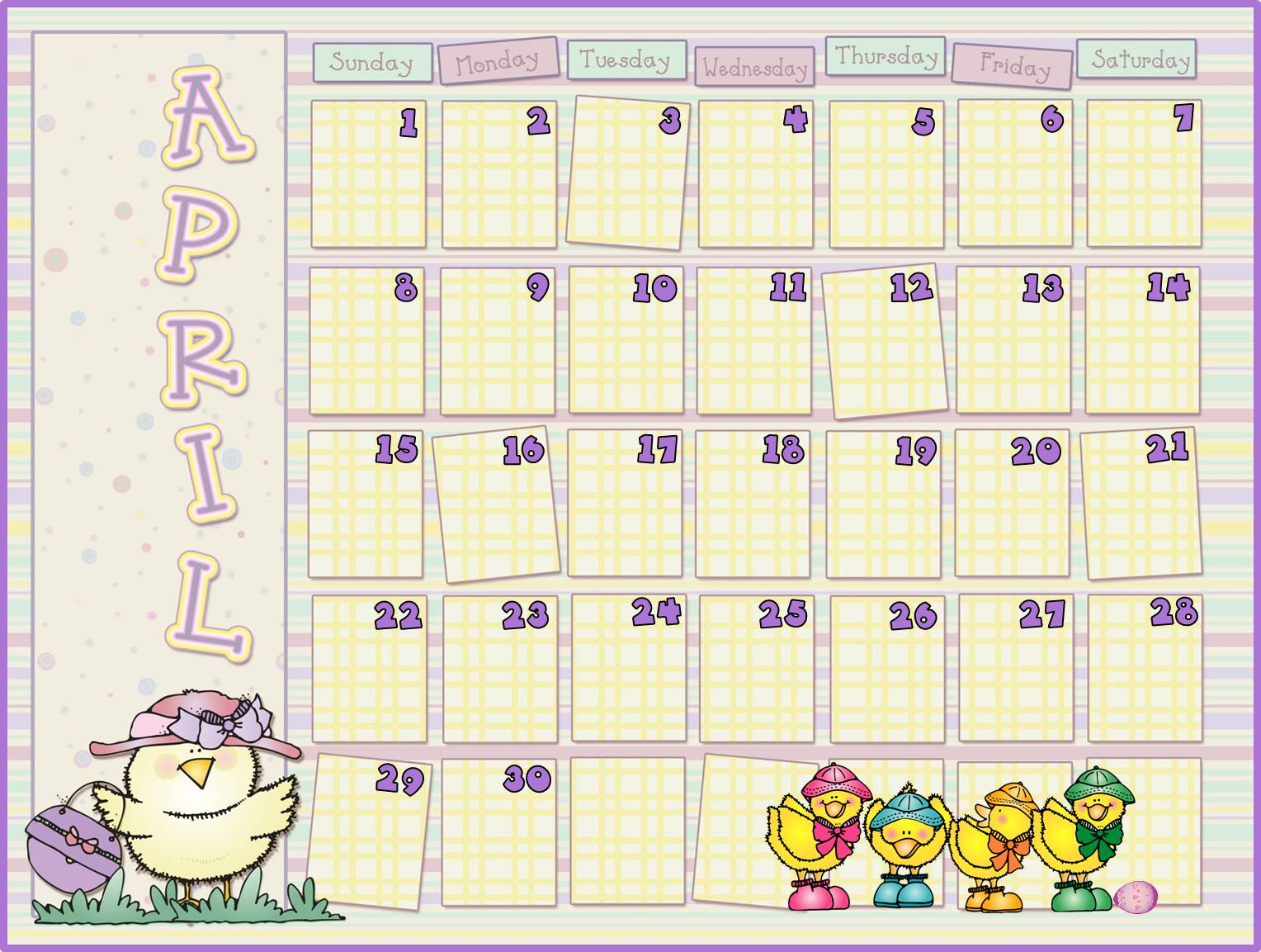 April Calendar Clipart : April calendar clipart suggest
