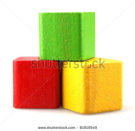 Blank Building Blocks Clipart Wooden Building Blocks   Stock