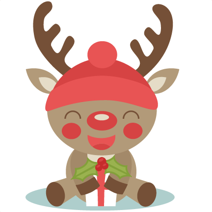 Cute Reindeer Christmas Fonts And Clipart - Clipart Kid