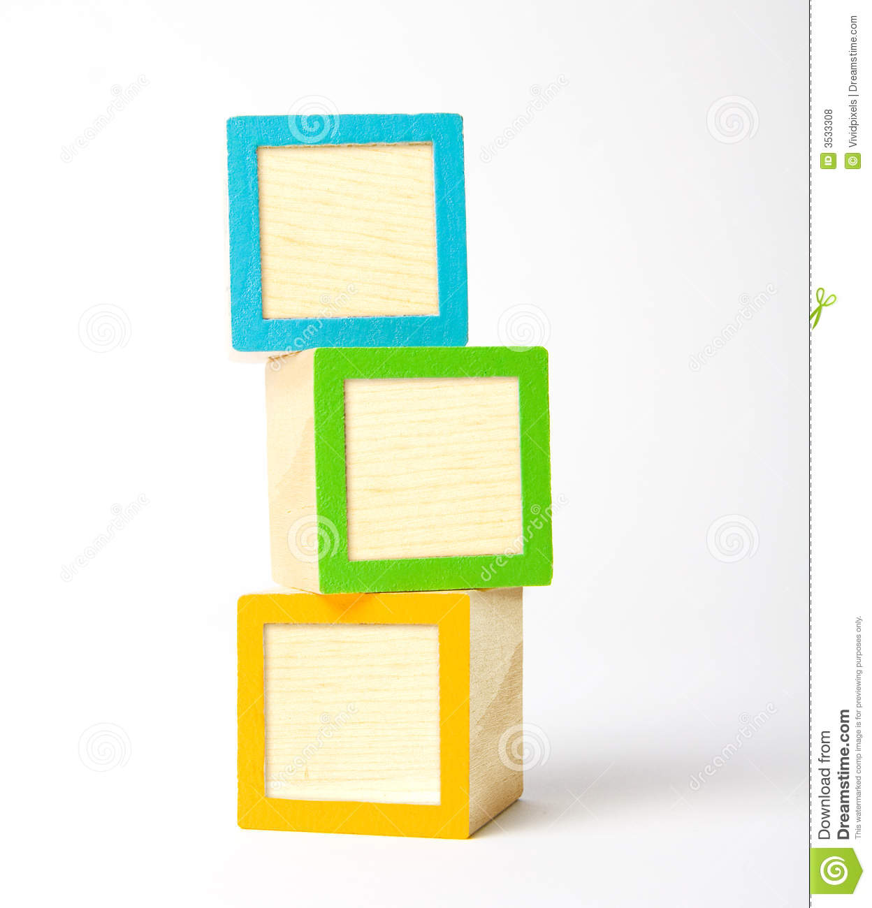 Colorful Wooden Children S Blocks Ready For Your Letters Symbols Or
