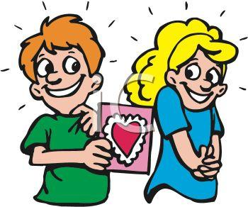 Crush Clipart Polls 0511 0902 0611 3545 Boy Giving A Girl A Valentine