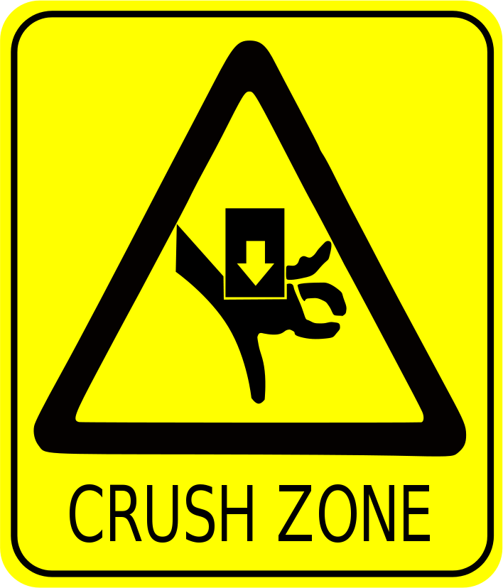 Crush Zone Sign   Http   Www Wpclipart Com Signs Symbol Safety Signs