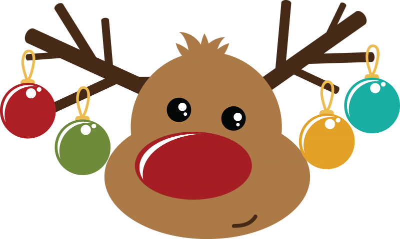 Cute reindeer head clipart - photo#27