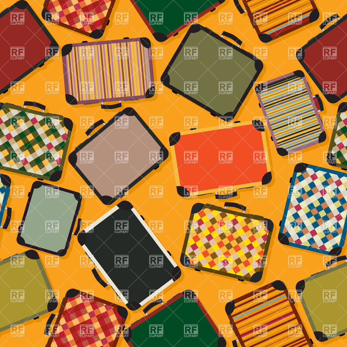 Luggage Seamless Background Download Royalty Free Vector Clipart  Eps