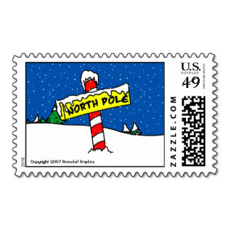North Pole Postage Stamps