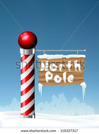 North Pole Sign Eps10   Stock Vector