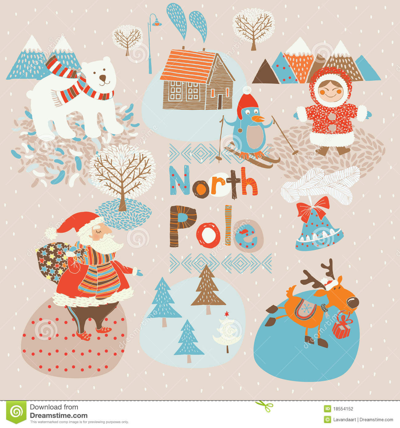 North Pole Xmas Background Stock Photography   Image  18554152