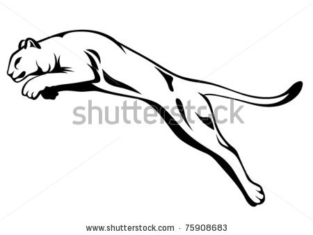 panther drawing outline - photo #14