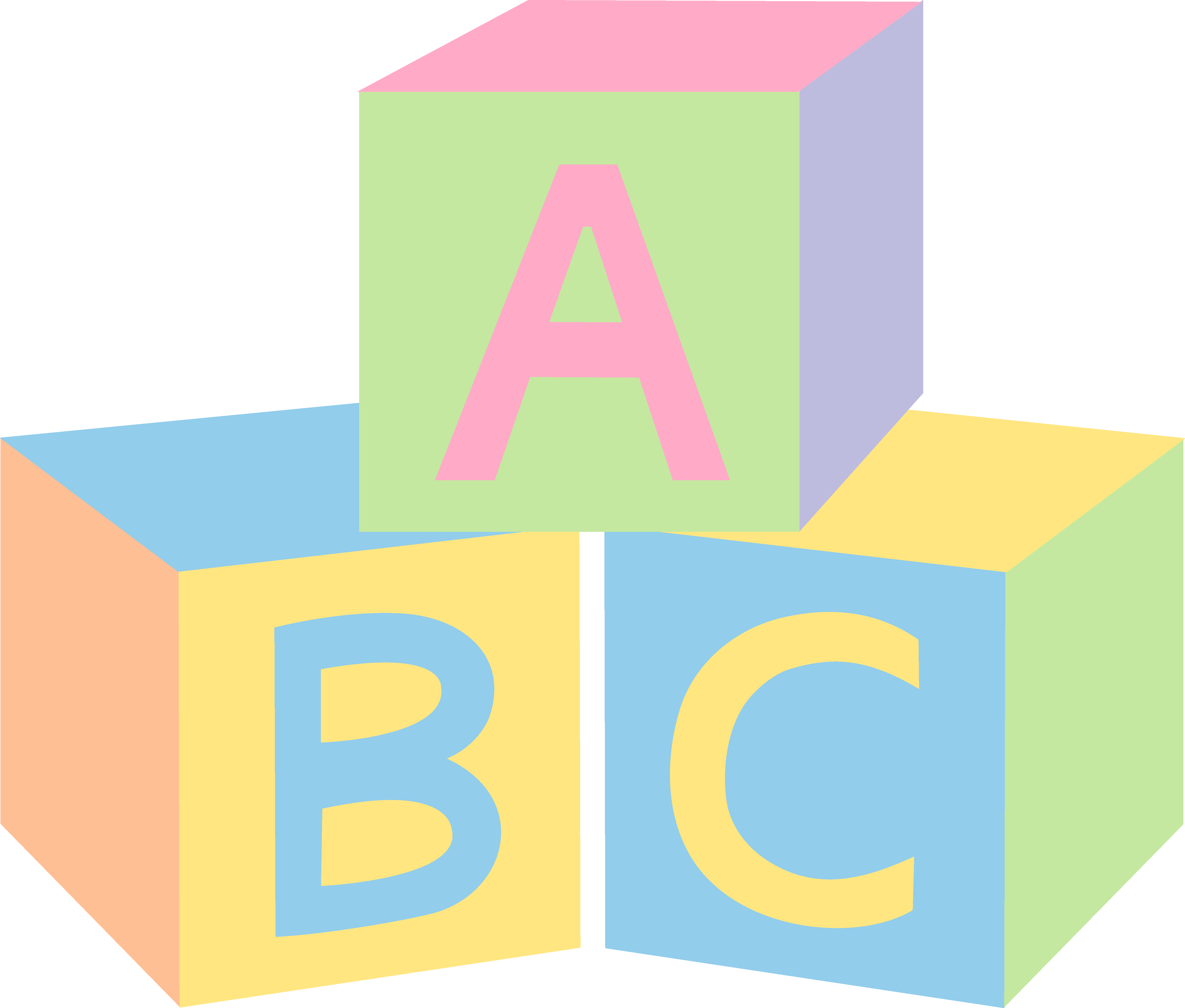 Pastel Abc Baby Blocks Free Clip Art   Black Background And Some Ppt