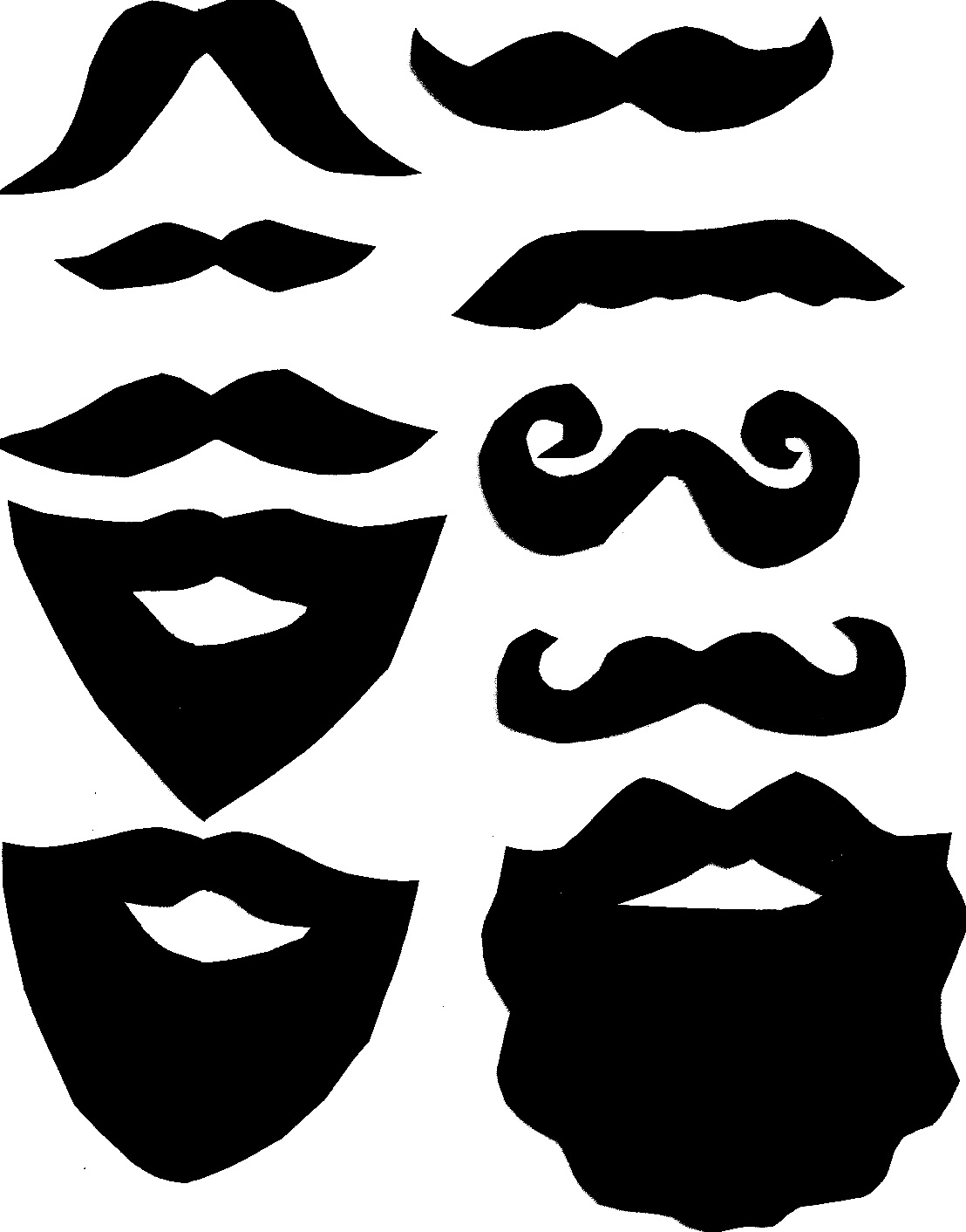 Mustache printables clipart clipart suggest for Mustach template