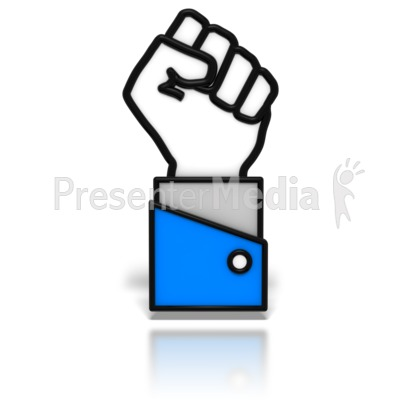 Power Fist Icon   Signs And Symbols   Great Clipart For Presentations