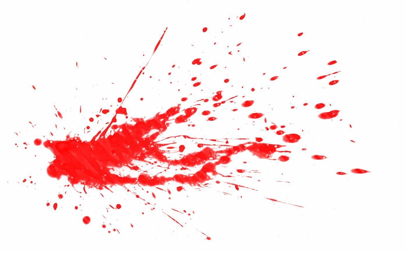 Paint Splats Real Red