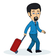 Traveler With Carry On Luggage Clipart   Free Clip Art Images