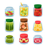 Canned Fruit And Vegetables In Cans Stock Photo