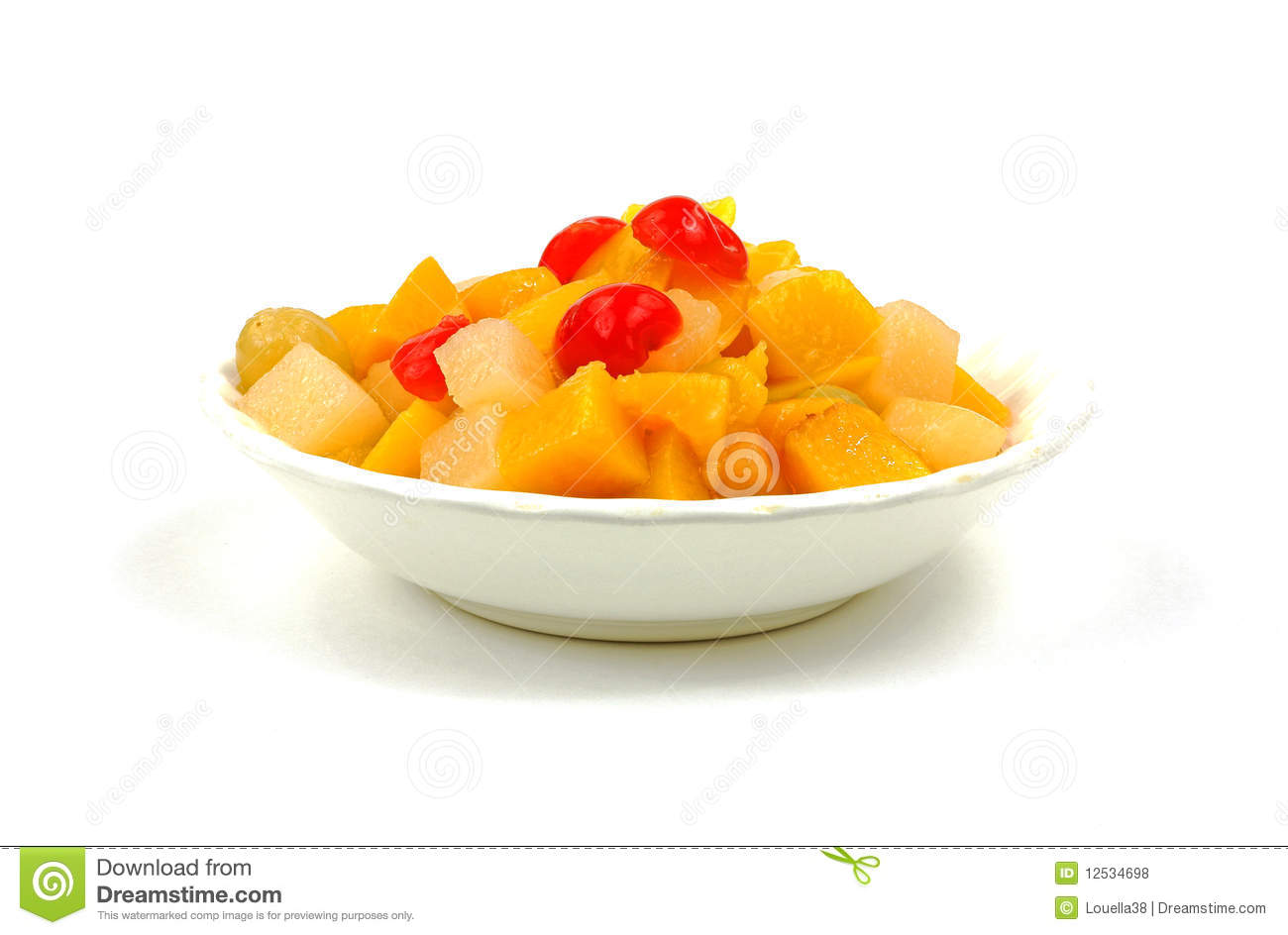 Canned Fruit Cocktail Royalty Free Stock Photos   Image  12534698