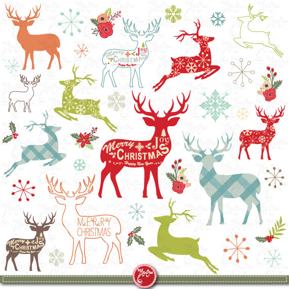 Reindeer Party Clipart - Clipart Kid