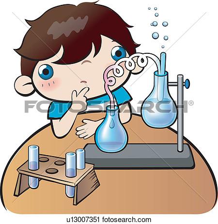 Clipart Of Experiment Tool School Life Research Experiment Tool