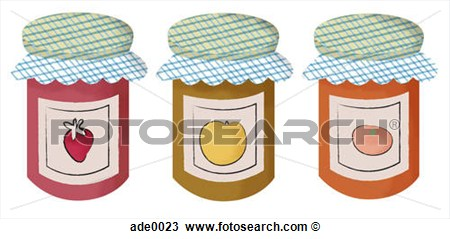 Drawing   Canned Fruit And Vegetables  Fotosearch   Search Clipart