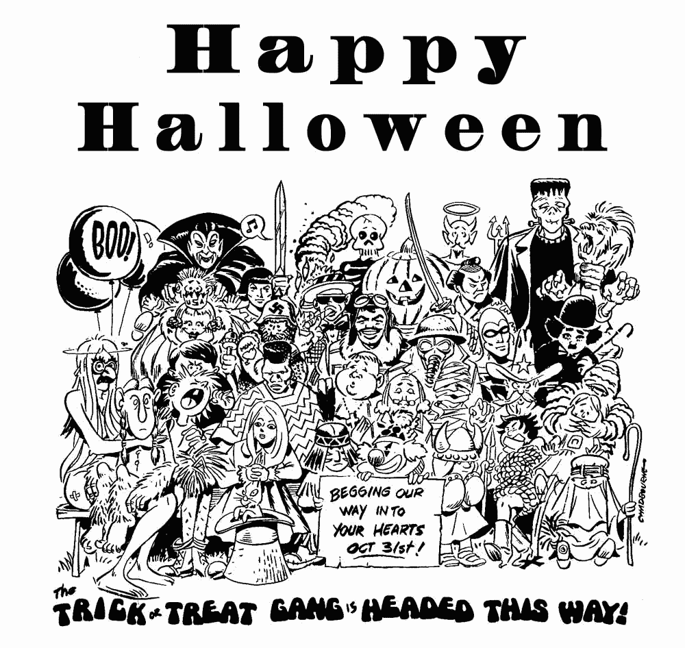 Free Clipart Of Happy Halloween Clipart Of A Large Black And