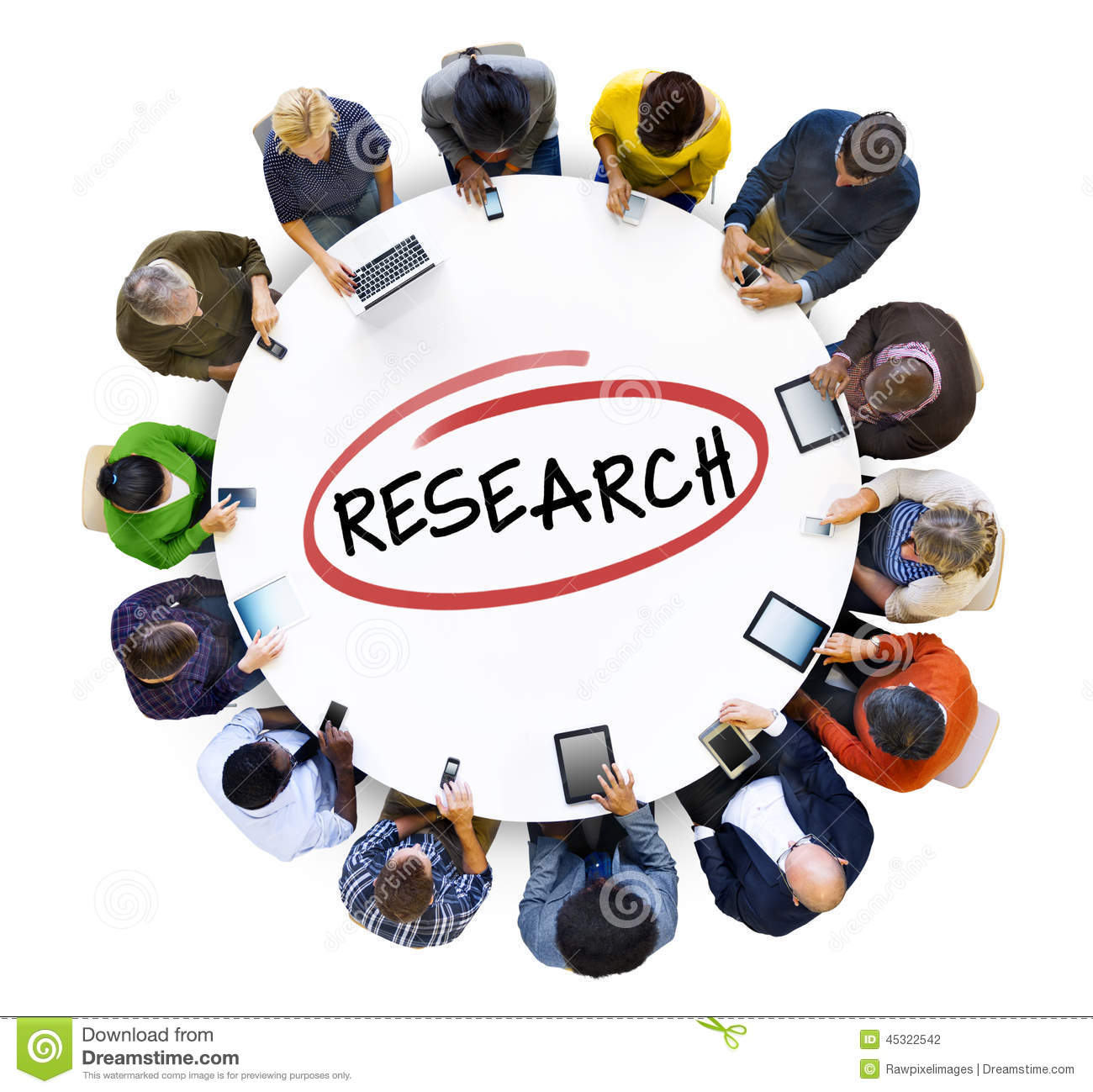 Group Of People Doing Research Stock Photo   Image  45322542