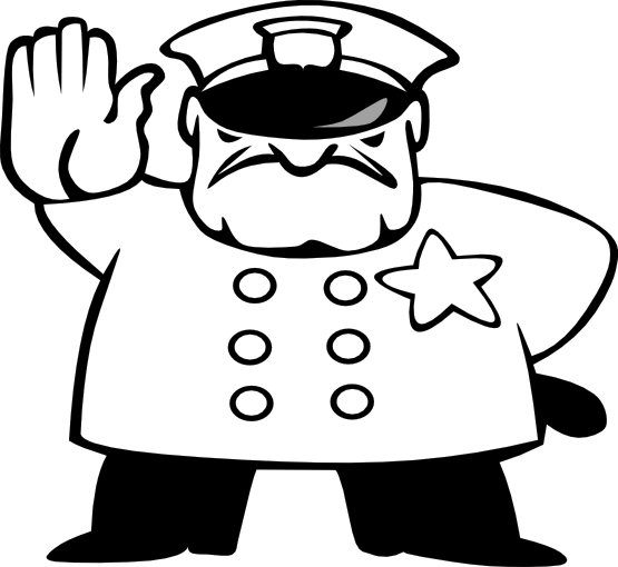Police Officer Clipart Black And White Police Man Black White Line Art