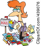 Royalty Free  Rf  Clip Art Illustration Of A Cartoon Tired Mail Man