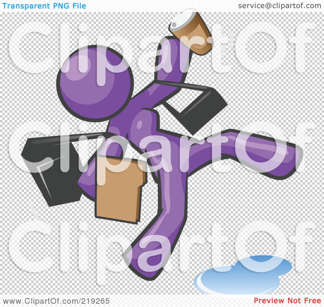 Royalty Free  Rf  Clipart Illustration Of An Overwhelmed Purple Woman