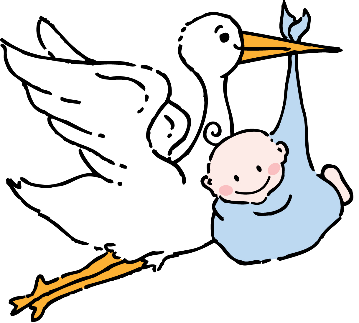 Stork And Baby Clipart   Clipart Best