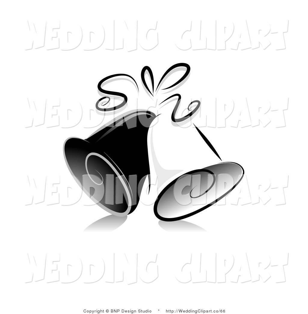 Vector Cartoon Marriage Clipart Of Black And White Ornate Wedding