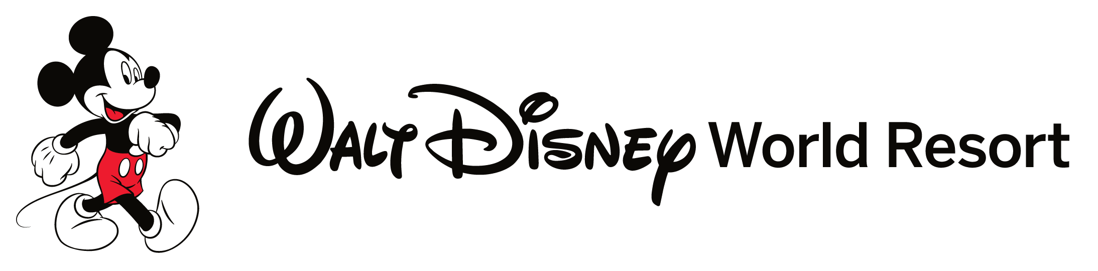 Walking mickey walt disney world resort logo 02 clipart kid