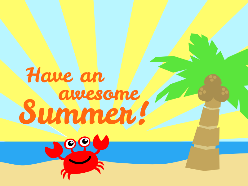 Awesome Summer By Scout   A Clipart To Wish Everyone An Awesome Summer