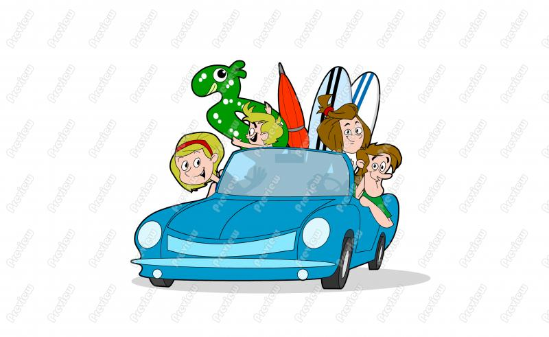 Family Driving Clipart - Clipart Suggest