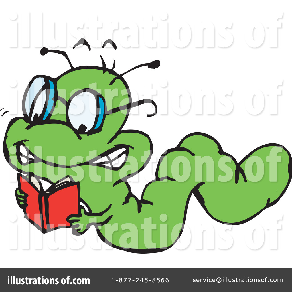 Book Worm Clipart  42560 By Dennis Holmes Designs   Royalty Free  Rf