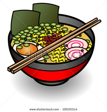 Bowl Of Noodle Soup Clipart Stock Vector A Bowl Of Noodles