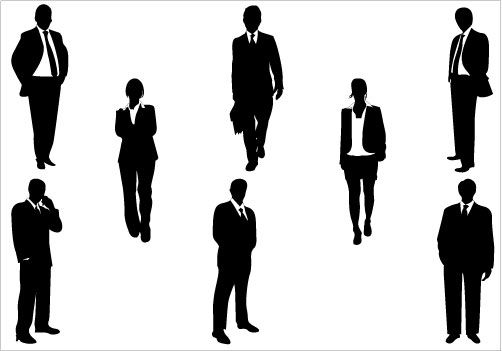 Business People Silhouette Clip Art Pack   Silhouette Clip Art   Pint