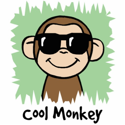Cartoon Clip Art Cool Monkey With Sunglasses Cut Out   Zazzle