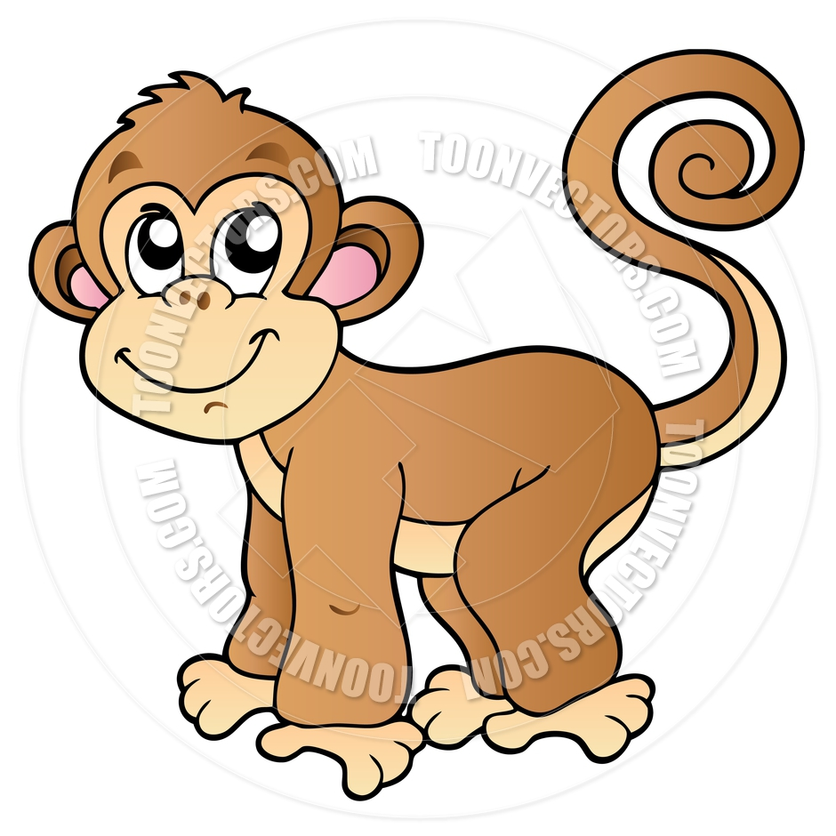 Cartoon Monkey Clipart - Clipart Kid