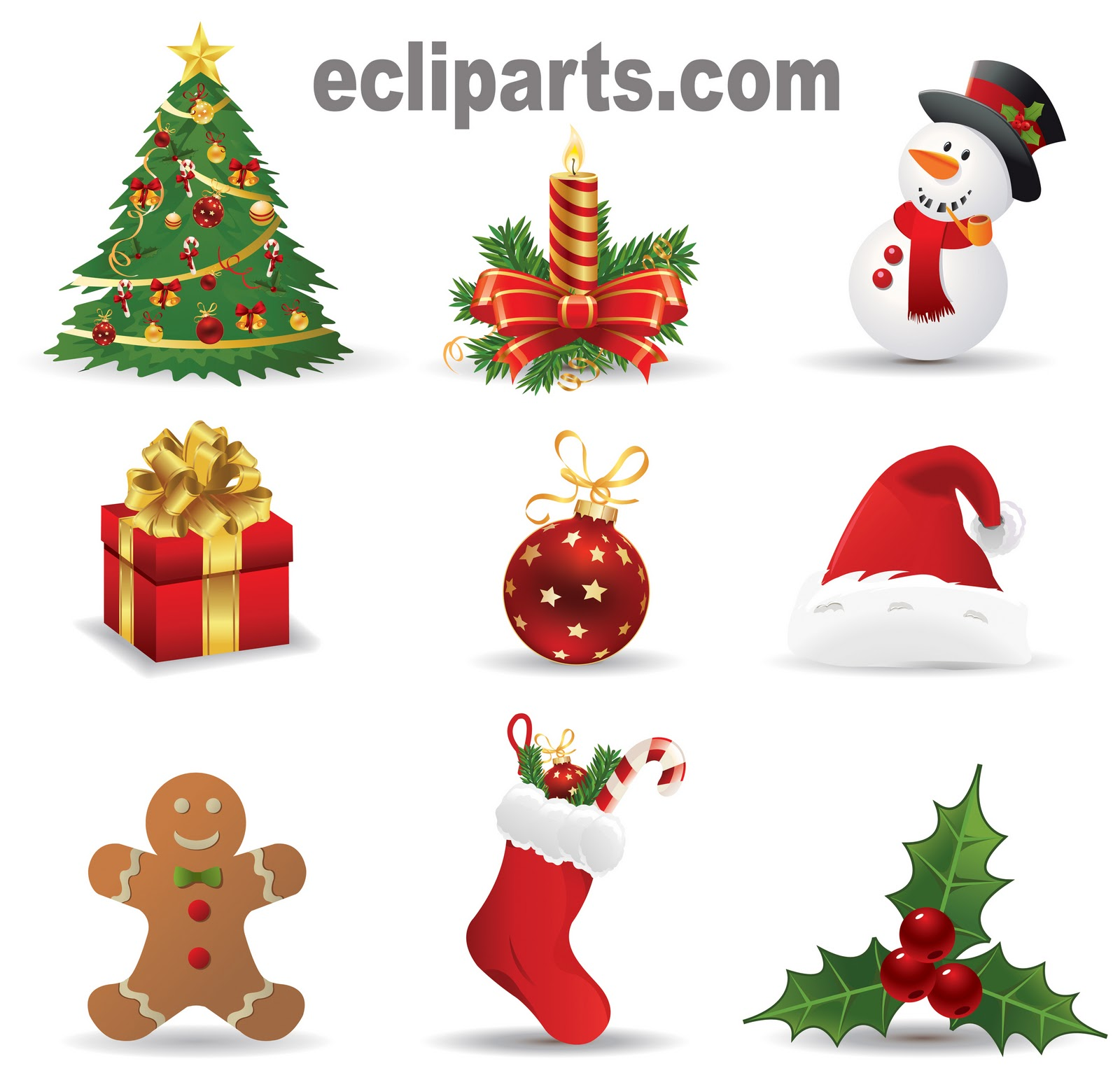 christmas clipart vector - photo #38